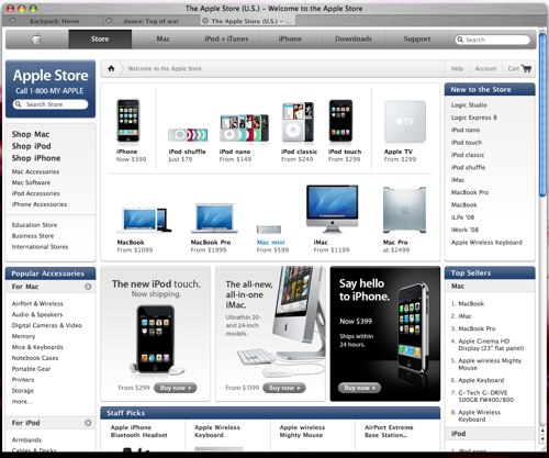The Apple Online Store offers Apple's entire product line for sale on the web for those that either would prefer ordering online or don't have an Apple Retail Store near them. While most offerings in-store and online are the same, some items such as higher end Macs, must be .