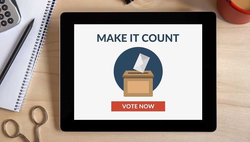 Voting on a tablet